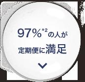 97%*2の人が定期便に満足